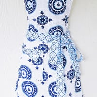 Nautical Theme Apron, Sailboats, Anchors, Coastal Living, Beach Style Apron, KitschNStyle