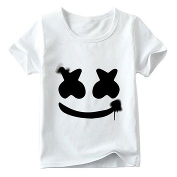Children DJ Marshmello Hipster T shirt Baby Boys/Girls Summer Top Short Sleeve T shirts Kids Fashion Casual Clothes,HKP2401