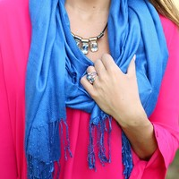 Sweet Simplicity Scarf in Blue