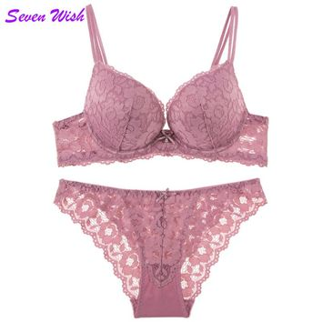 The new sexy female sense of the temptation to gather a small breast bra under the care of lace underwear thick cup bra set