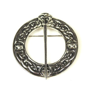 Vintage Dawson Bowman Celtic Knot Brooch Signed Scotland DB