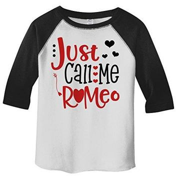 Shirts By Sarah Boy's Toddler Boy's Just Call Me Romeo Valentines Day 3/4 Sleeve T-Shirt