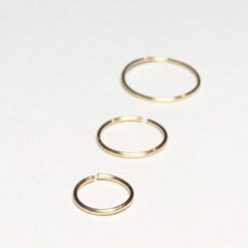 Small gold hoop earring, 14k gold nose ring, Hoop gold cartilage earring, gold septum piercing jewelry, 6mm 22g gold tragus hoop 8mm 10mm