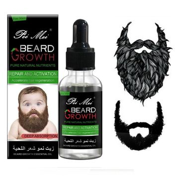 30ml Natural Organic Beard Oil Beard Wax Hair Loss Products Leave-In Conditioner for Groomed Beard Growth Products Dropshipping