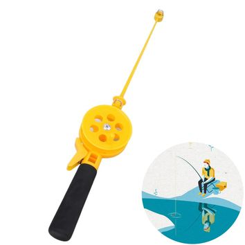 2017 New 33cm Fishing Rods Portable Mini Ice Fishing Rod Plastic Children Fishing Pole With Reels for Lake Pond River