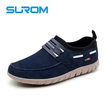 Designer Men's Loafers Suede Chaomis Leather Casual Shoes Fashion Male Slip on Boat shoes Soft Sole Moccasins Driving