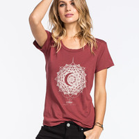 Lira Mandala Womens Tee Maroon  In Sizes