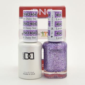 DND Daisy Soak Off Gel Polish + Matching Nail Polish Duo 404 Lavender Daisy Star