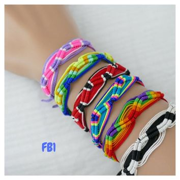 100 Friendship Bracelets Assorted Model FB1 Peruvian Friendship Bracelets