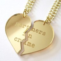 Partners in Crime Necklace Set  Gold by iloveyardleydecember