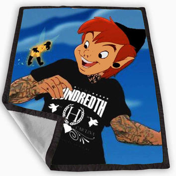 Peter Pan and Tinkerbell With Tattoo Blanket for Kids Blanket, Fleece Blanket Cute and Awesome Blanket for your bedding, Blanket fleece *