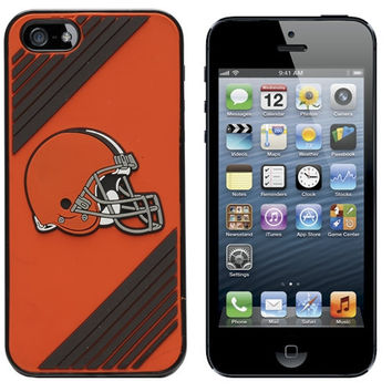Cleveland Browns Two-Piece iPhone 5 Snap-On Case - Orange/Brown