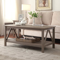 Linon Titian Rustic Gray Coffee Table