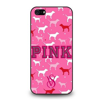PINK DOG VICTORIA'S SECRET iPhone 5 / 5S / SE Case Cover