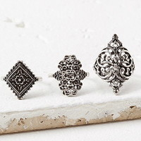 Etched Filigree Ring Set