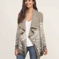Patterned Non Closure Cardigan