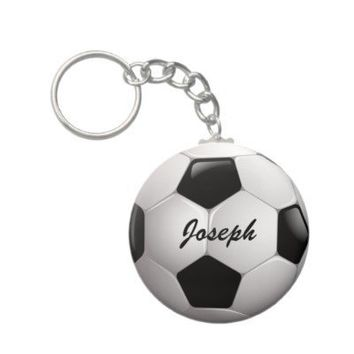 Customizable Soccer Ball Keychain from Zazzle.com