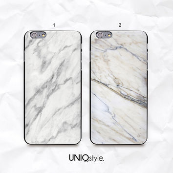 "iPhone 6 white marble phone case - iPhone 6 4.7"" back case - iPhone 6 plus 5.5"" back cover - soft case or hard case for iPhone 6 - N26"