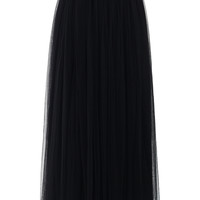 Amore Maxi Tulle Prom Skirt in Black Black