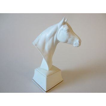 Astrope White Horse Head Equestrian Royal Worcester Fine Bone China England