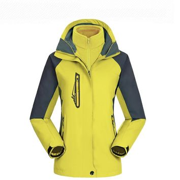 Outside Waterproof Breathable Hiking Outdoor Clothes Jacket Men Women Thick Two Piece Ski Suit Snowboarding Sets Sportswear