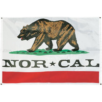 Nor Cal Republic Flag White One Size For Men 17434915001