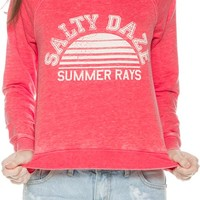 BILLABONG SUNNY RAYS PULL OVER CREW