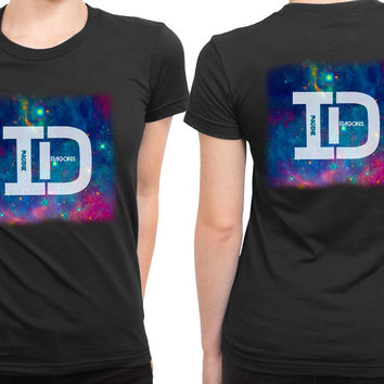 Imagine Dragons Id Space Background 2 Sided Womens T Shirt