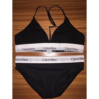 Calvin Klein Summer Women bra Bikini Brief sets for beach wear Swimwear