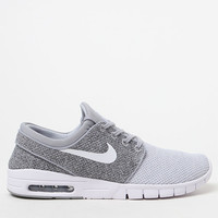 Nike SB Stefan Janoski Max Knit Grey and White Shoes at PacSun.com