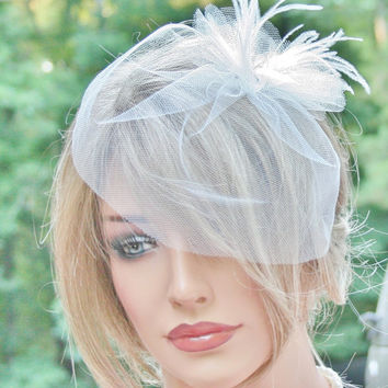 Birdcage Veil, Wedding Veil, Blusher Veil, Bridal Veil, Tulle Veil, Ivory Veil, Short Veil, Wedding Accessories