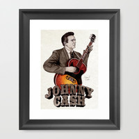 Johnny Cash Framed Art Print by Daniel Cash