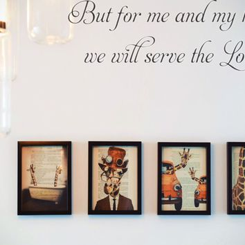 But for me and my house we will serve the Lord. Style 01 Vinyl Decal Sticker Removable