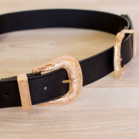 Zelda Double Buckle Belt