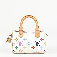 "Louis Vuitton White ""Monogram Multicolore"" Coated Canvas ""Mink Sac HL"" Bag"