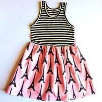 Black & Pink Stripe Paris Dress - Infant, Toddler & Girls | zulily