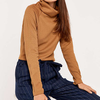 Light Before Dark Roll Jacquard Roll Neck Top - Urban Outfitters