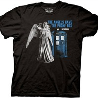 Doctor Who The Angels have The Phone Box T-Shirt | Old School Tees