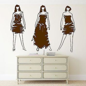 Wall Vinyl Sticker Decal Fashion Models Sketch Clothes Designer Paris Unique Gift (m247)