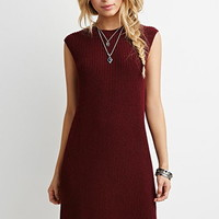 Ribbed Knit Shift Dress