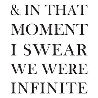 And In That Moment I Swear We Were Infinite Art Print by Sara Eshak | Society6