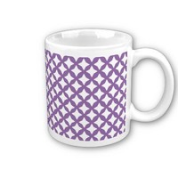 Bellflower Violet And White Seamless Mesh Pattern from Zazzle.com