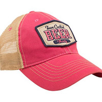 TEAM COCKTAIL Beer Thirty Mesh Trucker Hat - Pink Hat (Pink w/navy)