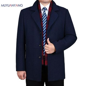Wool & Blends Winter Men Casual Wool Coats Men's Wool Jackets Overcoat