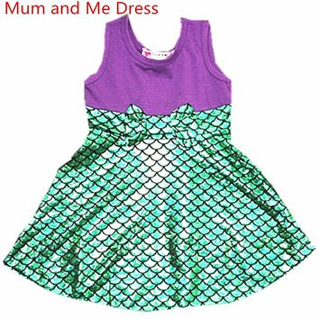 Halloween Family Matching Dress Christmas Mermaid Princess Cosply Dresses Mum and Me Minnie Mickey Snow white Party Summer Dress