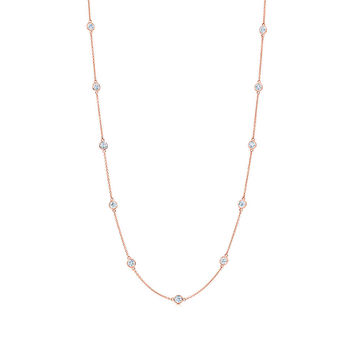 Tiffany & Co. - Elsa Peretti® Diamonds by the Yard® necklace in 18k rose gold.