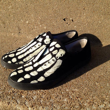 Skeleton Feet Shoes-Hand Painted