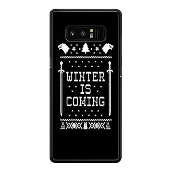 Winter Is Coming Game Of Thrones Samsung Galaxy Note 8 Case