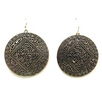 """Its Greek"" Disc Earrings"
