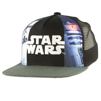 Star Wars - Logo 3D Embroidery Kids Adjustable Trucker Cap